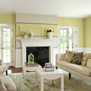 celery paint color in living room